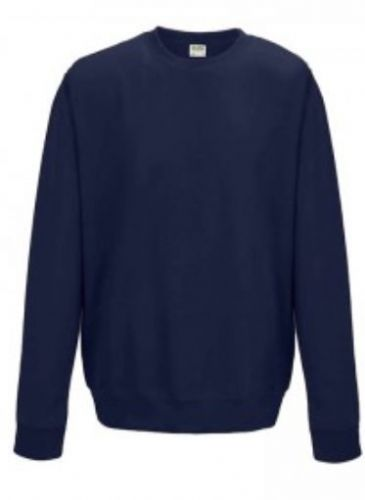 Crew Neck Navy Embroidered Sweatshirt (3)